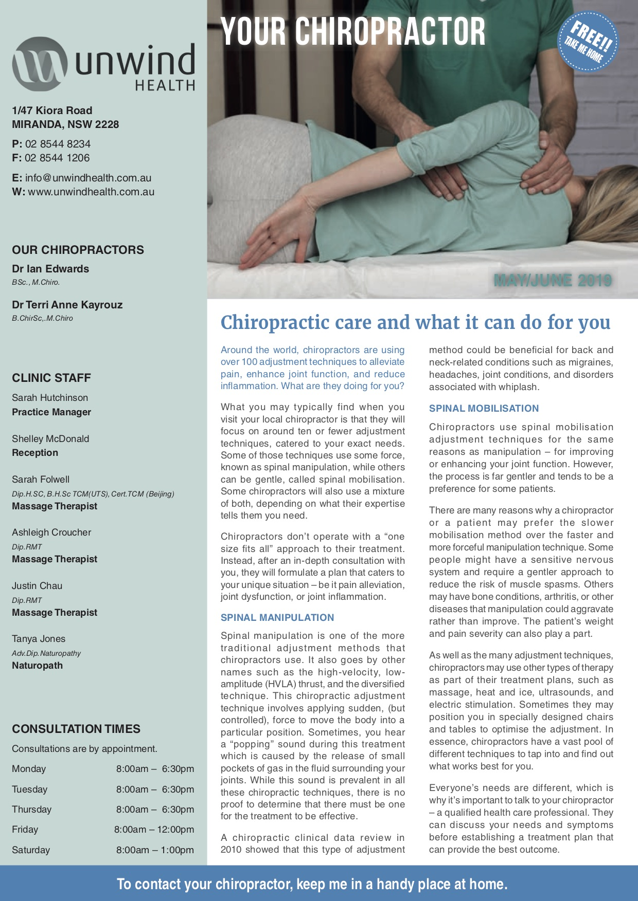 Your Chiropractor May 2019 - Acc5032
